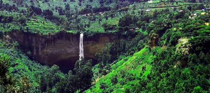 View for the 3 Sipi falls
